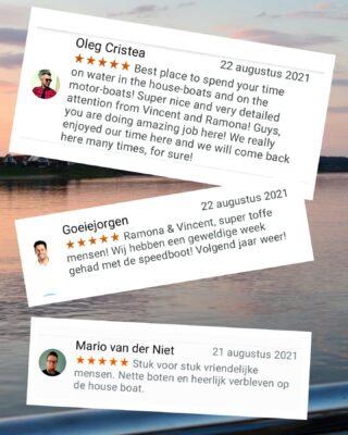 Hoe leuk! Beter kunnen wij ons weekend niet afsluiten! Super bedankt voor jullie komst en tot ziens 🤩👋!! Liefs Vincent en Ramona  #houseboatvacation #lovemyjob #thankfulness #happyday #boatrental #bootjevaren